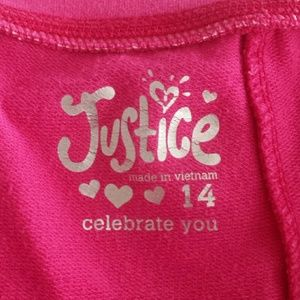 Justice Bottoms - Justice Hot Pink Fold Over Shorts